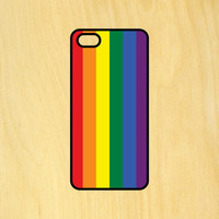 Rainbow Flag Gay Pride Phone Case iPhone 4 / 4s / 5 / 5s / 5c /6 / 6s /6+ Apple Samsung Galaxy S3 / S4 / S5 / S6