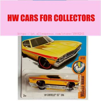 2017L Hot Wheels 1:64 Yellow 69 Chevelle SS 396 Metal Diecast Cars Collection Kids Toys Vehicle For Children Juguetes Models