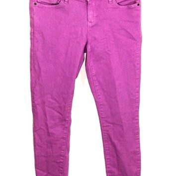 Gap Jeans 1969 Always Skinny Stretch Neon Violet Womens 27 / 4 R Actual 29x26.5 - Preowned