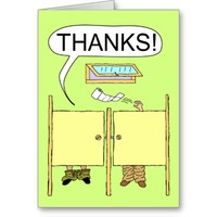 Funny Thank You Card: Toilet Paper Greeting Card