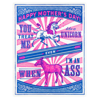 Unicorn & Ass Mother's Day Card