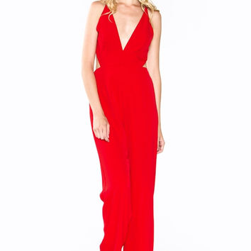 1970'S RED JUMPSUIT