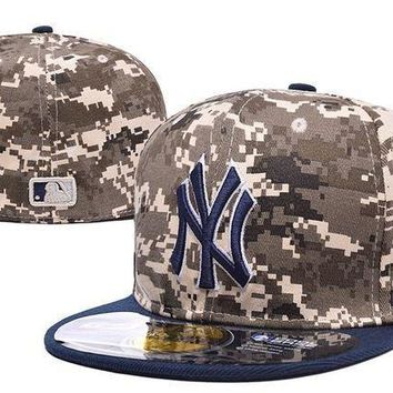New York Yankees 59fifty Mlb Baseball Cap Cool Base Camouflage