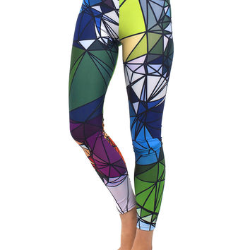 Stained Glass Design Art Leggings