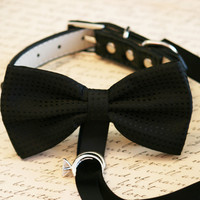 Black Dog Bow Tie, Dog ring bearer, Pet Wedding accessory