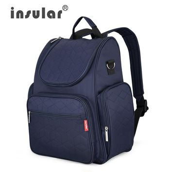 Insular Elegant Baby Diaper Backpacks Bag Nappy Stroller Bag Multifunctional Maternity Changing Bags For Mommy