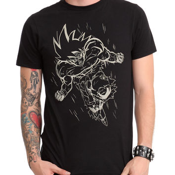 Dragon Ball Z Goku Line Art T-Shirt