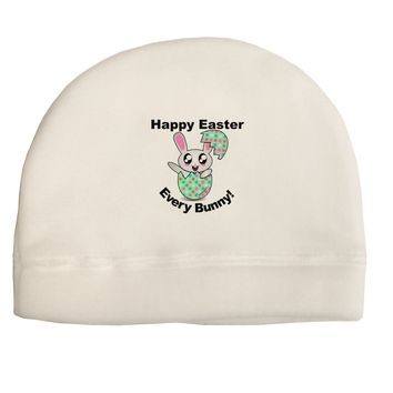 Happy Easter Every Bunny Adult Fleece Beanie Cap Hat by TooLoud