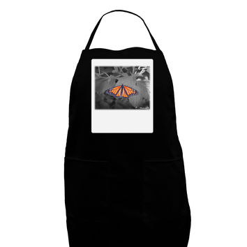 Monarch Butterfly Photo Panel Dark Adult Apron