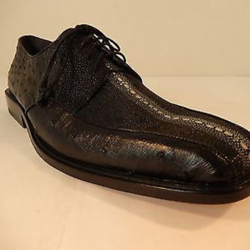 Los Altos Stingray/Ostrich Combo Dress Shoes