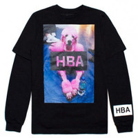 Indie Designs Hood by Air Inspired HBA Poodle Combo Print T-Shirt