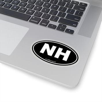New Hampshire State Shape Sticker SOLID BLACK