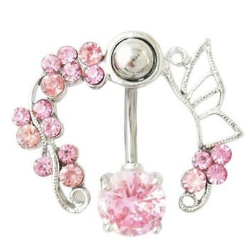 New Arrival Hollow Belly Button Rings Sexy Body Piercing Bars Piercings Navel Piercing Gothic Fine Jewelry Body