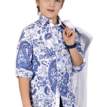 Palazzo by Gulliver Floral Print Boys Shirt