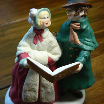 "Vintage Hallmark Ornament - Charles Dickens ""Merry Carolers"" From the 1991 A Christmas Carol Collection"