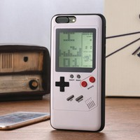 Ninetendo Gameboy Tetris Phone Case For iPhone X 7 8 Plus Retro Game Console Cover For iPhone 6 6S Plus Gift Fitted Case