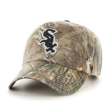 MLB Chicago White Sox '47 Big Buck Clean Up Camo Adjustable Hat, One Size Fits Most, Realtree Camouflage