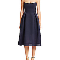 NICHOLAS - Strapless Mesh Dress - Saks Fifth Avenue Mobile