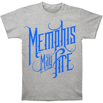 Memphis May Fire Men's  Logo T-shirt Grey Rockabilia