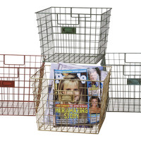 Wire Locker Baskets, Set of 4, Storage Baskets