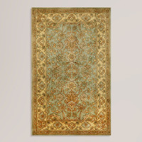Aqua Sarai Wool Rug - World Market