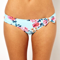 Seafolly Rococo Rose Ruched Bow Bikini Pant