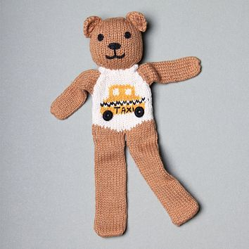 Estella Organic Cotton Handmade Baby Soother - Taxi Brown Bear 7.5""
