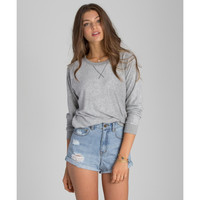 Billabong Round About Pullover Fleece   Athletic Heather Grey