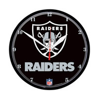 Oakland Raiders NFL Round Wall Clock