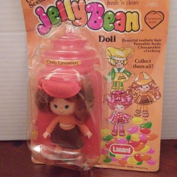 vintage 1980's strawberry shortcake knock off jellybean doll cindy cinnamon
