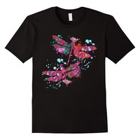 Dragonfly Watercolor Effect Tshirt