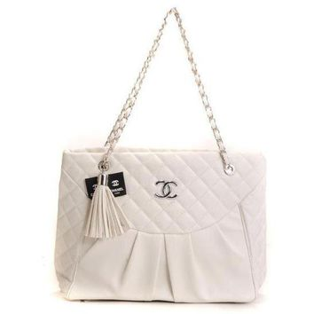 CHANEL Women Fashion Leather Chain Handbag Satchel Shoulder Bag