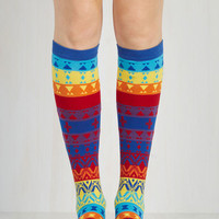 Vintage Inspired When You and I Kaleidoscope Socks Size OS by ModCloth