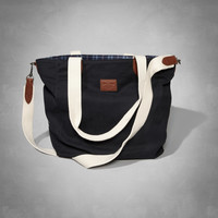 Leather Trim Tote Bag