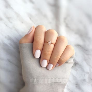 minimalist herkimer ring,cocktail midi ring,solitaire midi ring,herkimer diamond,dainty herkimer ring,rose gold solitaire ring,herk mid ring
