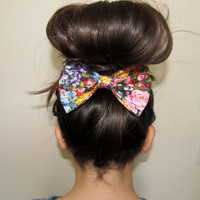 Bouquet Floral Hair Bow Oversized