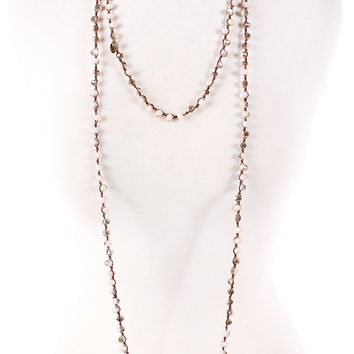 Peyton Necklace - Grey & White