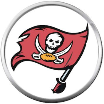 Tampa Bay Buccaneers NFL Logo Flag Football Lovers Team Spirit 18MM - 20MM Snap Jewelry Charm
