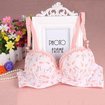 2017 new sexy cute women small underwire bra push up young girl fashion bras lingerie underwear 34 36 38 A cup