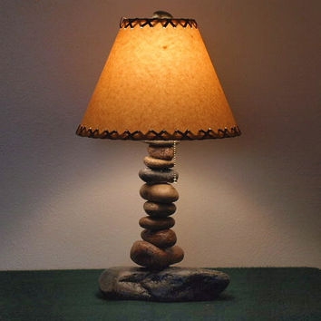 "Tall Desk Lamp w/12"" Parchment Shade - $129.00 - Handmade Crafts by Clearwater Cabin"