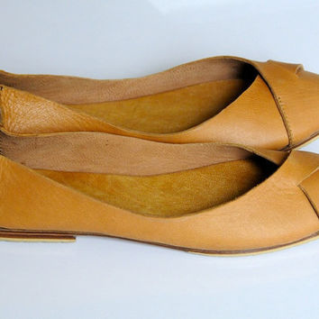NATIVE. Leather ballet flats / womens shoes / flat by BaliELF