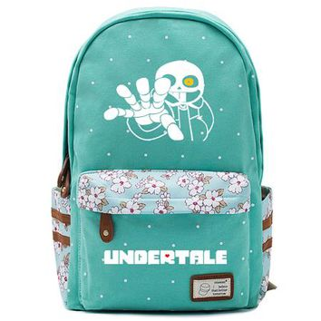 Girls bookbag Undertale Printing canvas Backpack Girls School Bags Young Women Daily Backpack Children Bookbag Shoulder Backpacks Gift Bag AT_52_3
