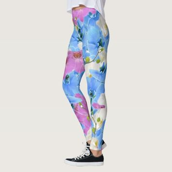 Tulips Floral Colorful Leggings