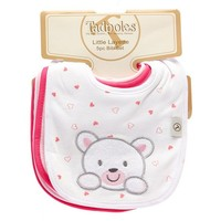 5pc Bib Set Pink Bear 351154918 | Bibs | Bibs | Feeding | Burlington Coat Factory