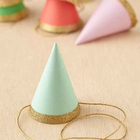 Glitter Party Hats Set