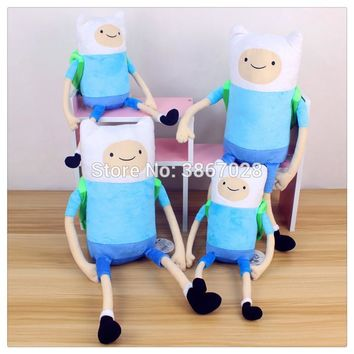 Adventure Time Finn with backpack Plush Doll toy 35cm  50cm gift