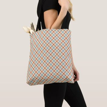 Buffalo plaid, scottish tartan pattern yellow blue tote bag
