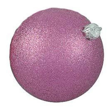 "4 Christmas Ball Ornaments - 3.25 ""  - Pink"
