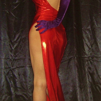 JESSICA RABBIT Costume Jessica Rabbit Dress Made to Order Jessica Dress