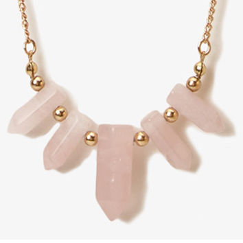 Faux Amethyst Gemstone Necklace | FOREVER 21 - 1042108411
